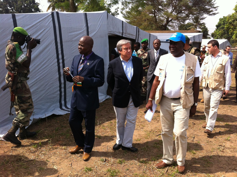 Antonio Guterres, Magatakardar Majalisar Dinkin Duniya na ziyarar a birnin Bangui