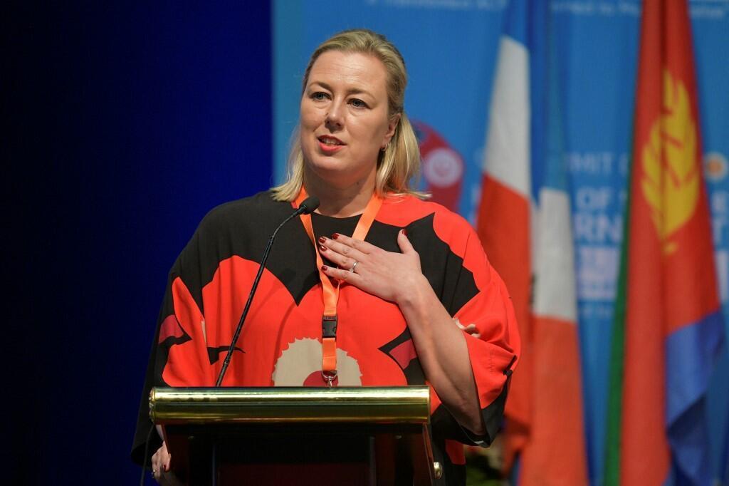La commissaire européenne Jutta Urpilainen à Nairobi, le 9 décembre 2019.