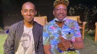 Claudy Siar et Jean Goubald à Kinshasa