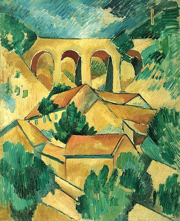 ژرژ براک، تابلوی نقاشی شده از مناظر «لستاک»