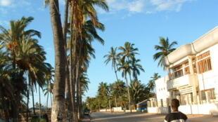 Boulevard Lyautey dans le centre-ville de Tuléar, Madagascar.