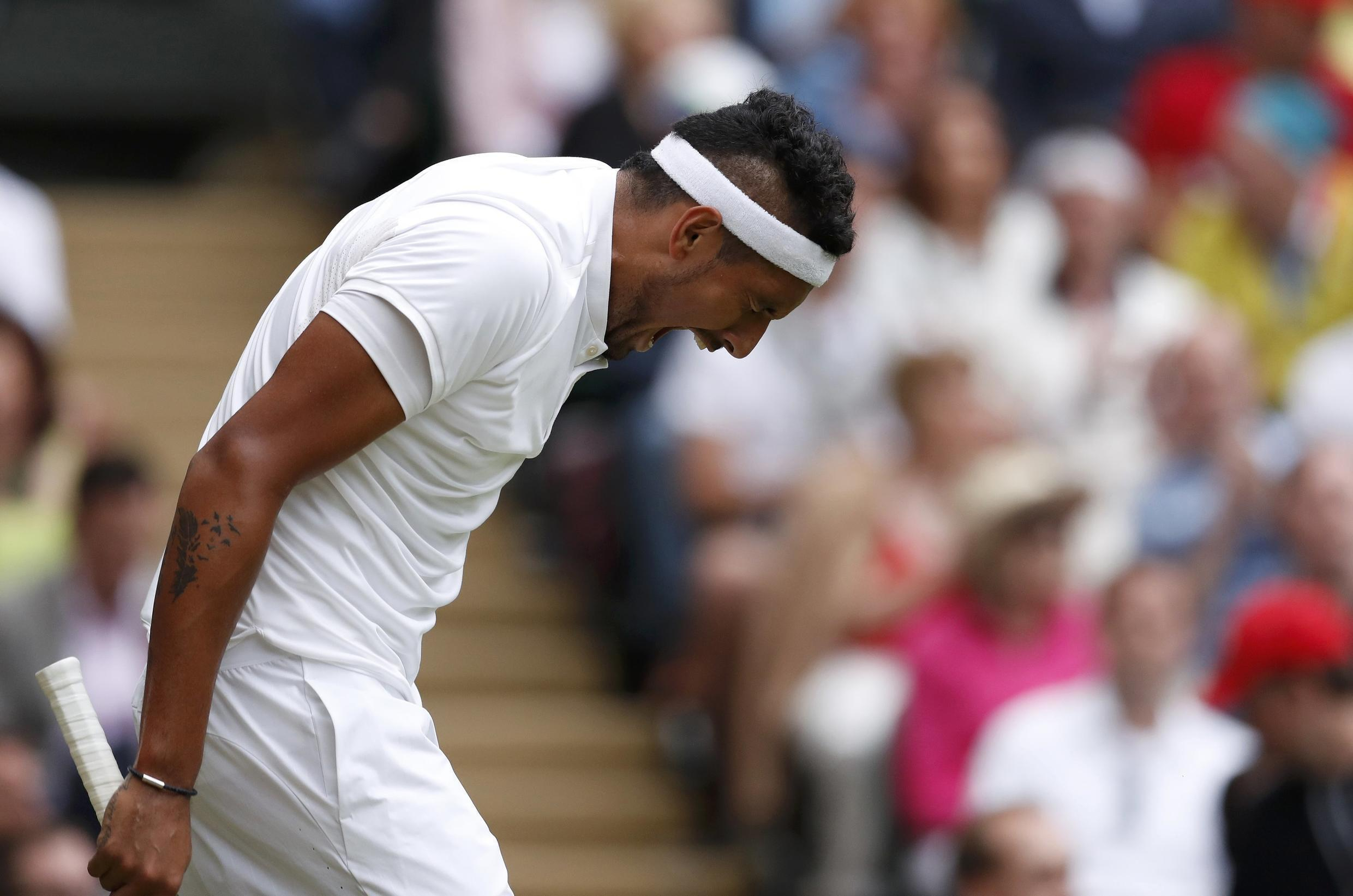 Nick Kyrgios berated his performance in the last 16 at Wimbledon against Andy Murray.