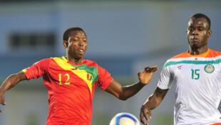 Le Guinéen Aboubacar Sylla (à gauche) et le Nigérien Boureima Abdoulaye.