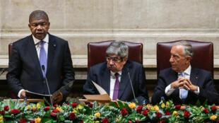 Presidente angolano, João Lourenço em visita oficial a Portugal.