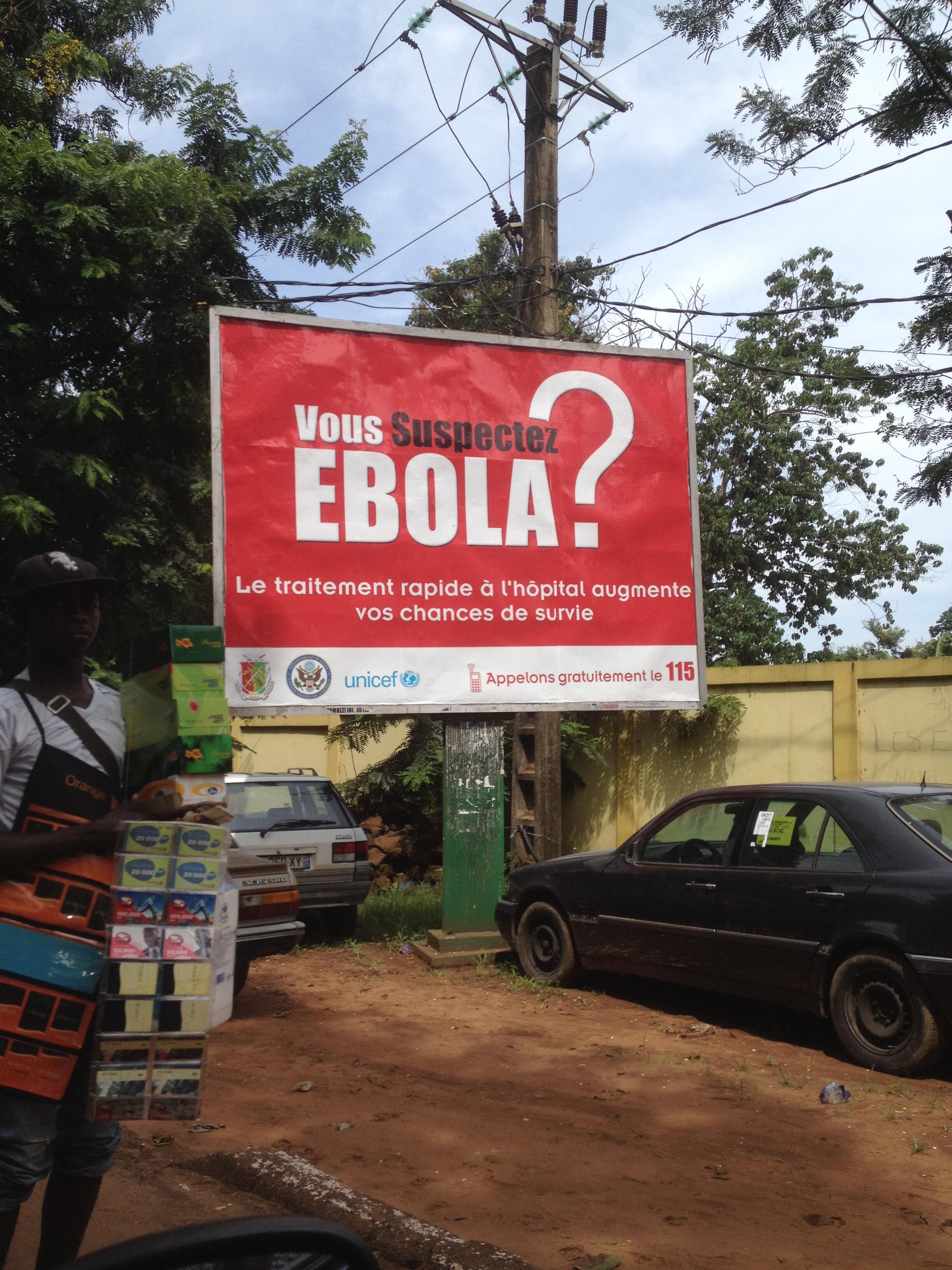 La sensibilisation du public à Conakry.