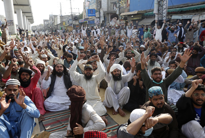 Image d'archive RFI - Pakistan-rassemblement anti-France à Lahore le 15 avril 2021.