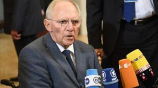 Le ministre allemand des Finances Wolfgang Schauble, le 9 mars 2015, à  Bruxelles.