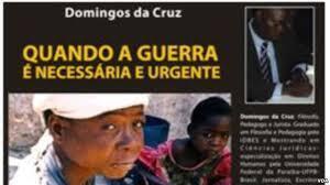 """Capa do livro """"Quando a guerra é necessária e urgente"""" de Domingos da Cruz"""