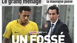 Revista esportiva francesa traz na capa as desavenças de Neymar com seu técnico no PSG.