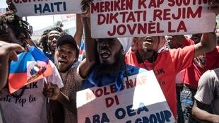 Manifestation dans les rues de Port-au-Prince contre le projet de référendum constitutionnel