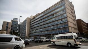 Le commissariat central de police à Johannesburg, anciennement connu sous le nom de John Vorster Square.