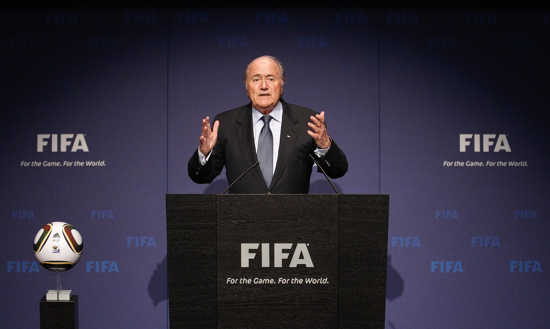 Chủ tịch FIFA Sepp Blatter trong cuộc cuộc họp báo tại Zurich ngày 19/11/2010
