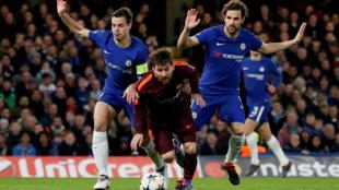 A l'aller, Messi a donné du fil à retordre aux Blues