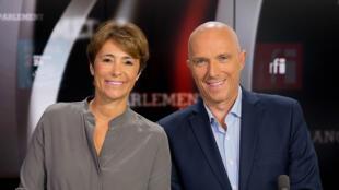 Roselyne Febvre et Frédéric Rivière.