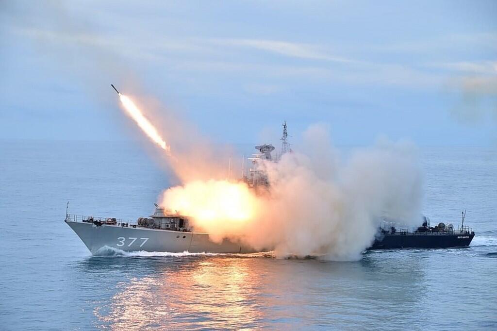 Hải quân Indonesia tập trận ngoài khơi đảo Natuna. Ảnh tháng 7/2020
