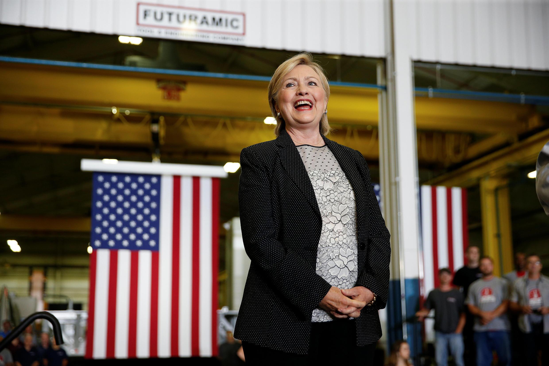 美民主黨總統競選人希拉里-克林頓。攝於2016年8月11日。