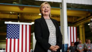 美民主党总统竞选人希拉里-克林顿。摄于2016年8月11日。
