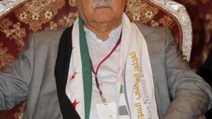 L'opposant syrien George Sabra, lors de l'assemblée générale du Conseil national syrien à Doha, le 6 novembre 2012.