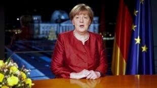 La chancelière allemande Angela Merkel le 31 décembre 2015.