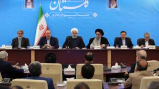 جلسه شورای اداری استان گلستان با حضور حسن روحانی، رئیس جمهوری اسلامی ایران. سهشنبه ٢۵ دی/ ۱۵ ژانویه ٢٠۱٩