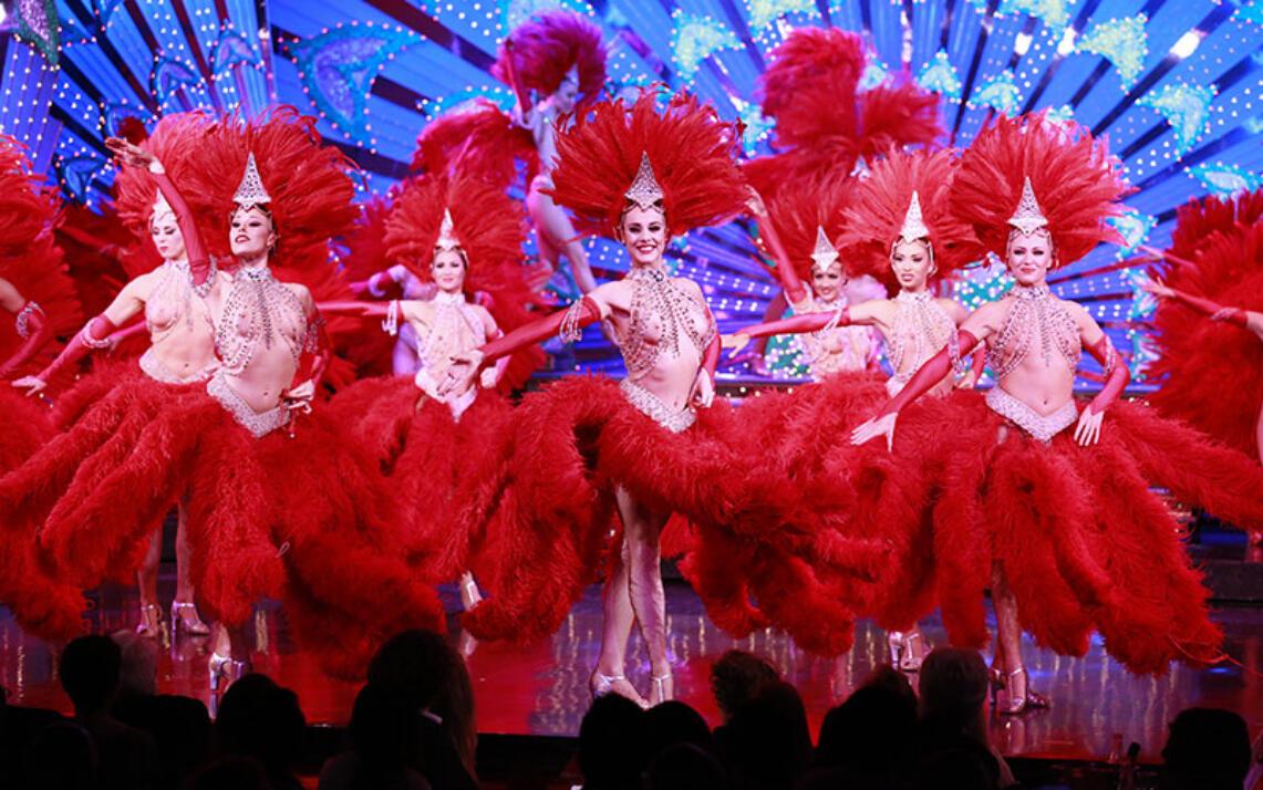 Des danseuses du Moulin Rouge, en 2014.