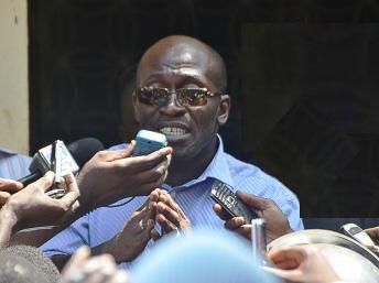 Kalifa Gassama Diaby, le ministre guinéen des Droits de l'homme (ici en février 2012) à Conakry.