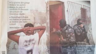 Capa do jornal Le Monde deste domingo (30).