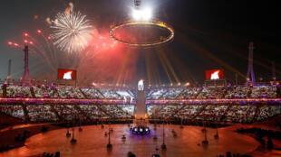 В южнокорейском Пхёнчхане открылись зимние Олимпийские игры, 9 февраля 2018.