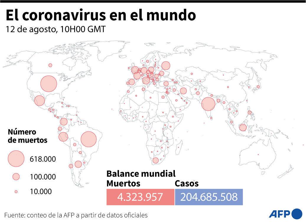 El coronavirus en el mundo