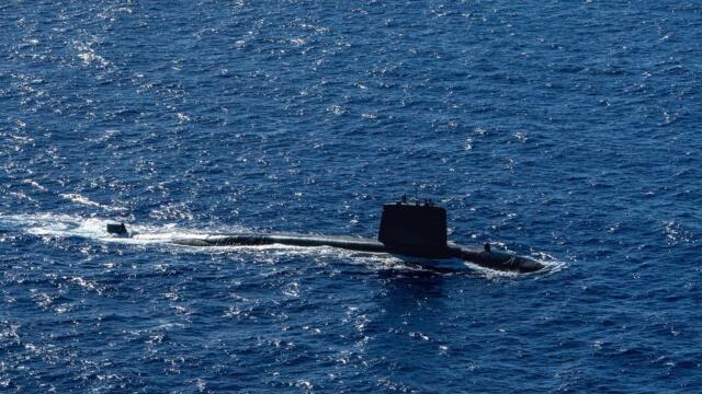 法国核潜艇在南中国海航行(photo:RFI)