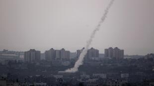 Palestinians launch a rocket towards Israel on Saturday