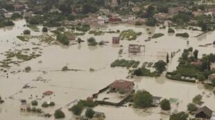 Vue aérienne des inondations à Molina del Segura, le 13 septembre 2019.