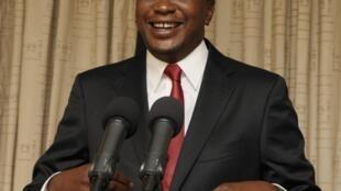 Uhuru Kenyatta, lors de son discours à la nation, le 30 mars 2013.
