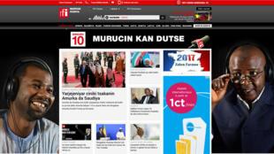 Capture d'écran du site RFI en haoussa.