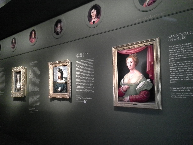 Vista de la exposición Los Borgia en el Museo Maillol de París.