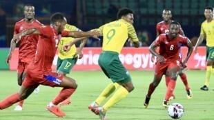 L'Afrique du Sud s'est imposée 1-0 devant la Namibie, au Caire, le 28 juin 2019.