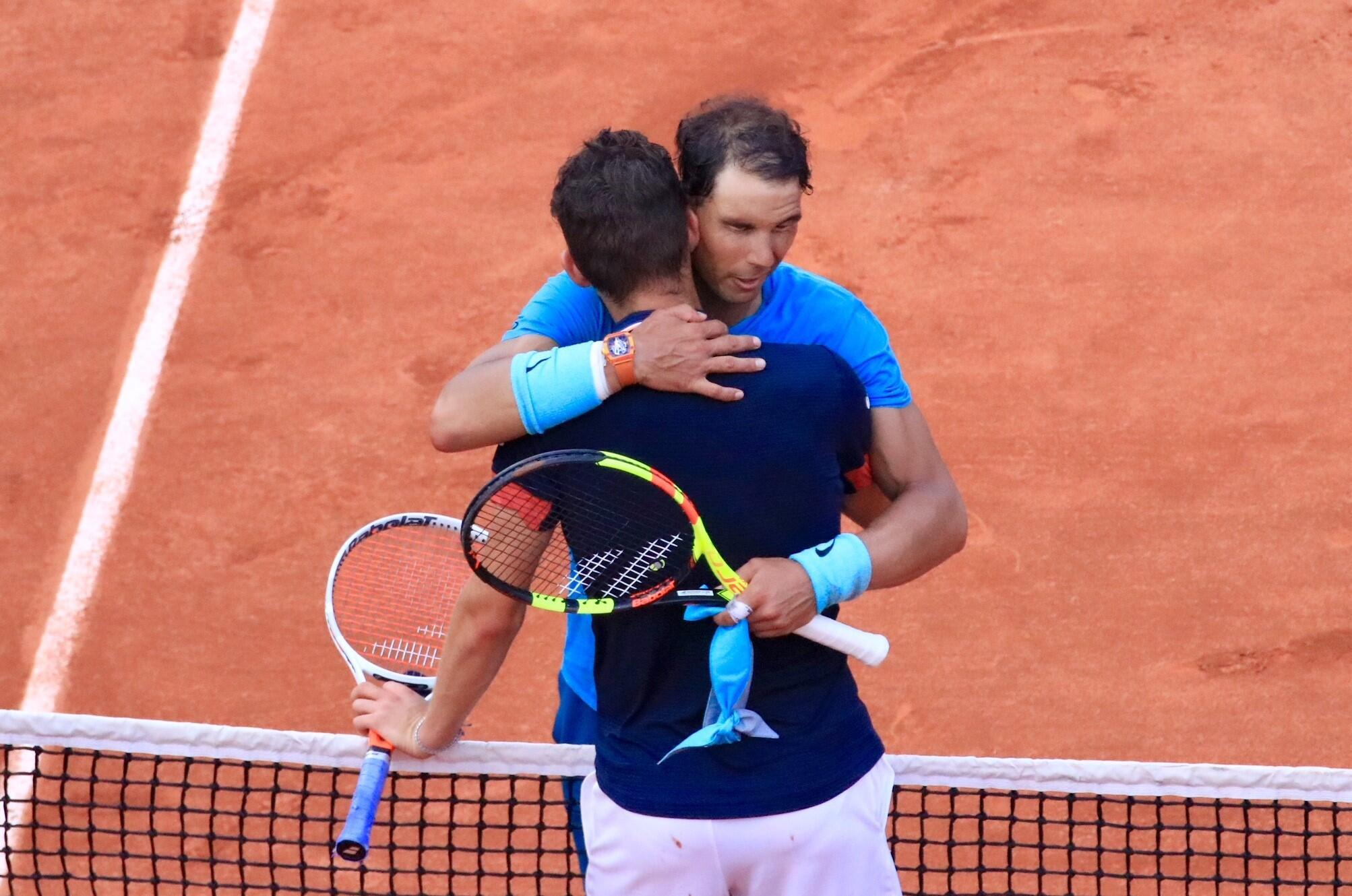 Rafael Nadal beat Dominic Theim in the 2018 French Open final.