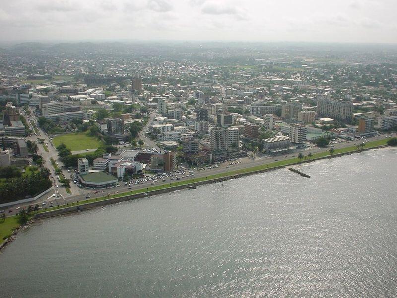 Une vue aérienne de Libreville au Gabon. (Photo d'illustration)