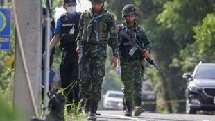 Militares  tailandeses em Pattani em 24 Julho de 2019. (Ilustração)