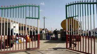 The gates of the Iraq-Iran border crossing of Haj Omran, open 08 October 2007 in the Iraqi Kurdish region