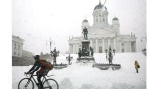 Sénat, Helsinki. Photo datée du 26 mars 2008.