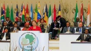 Presidenta Dilma Rousseff durante cerimônia de abertura da III Cúpula América do Sul-África. (Malabo - Guiné Equatorial, 22/02/2013)