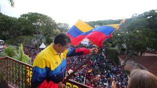 El presidente de Venezuela, Nicolás Maduro, durante un acto en Caracas el 23 de enero de 2021