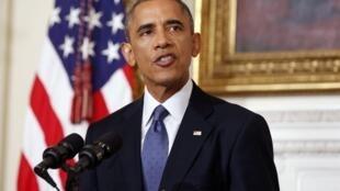 Барак Обама, Белый дом, 7 августа 2014 года