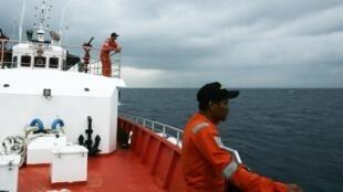 Tim kiếm máy bay Malaysia mất tich. Ảnh chụp trên biển Andaman, ngày 15/03/2014.