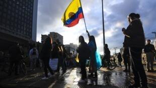 Manifestations dans les rues de Bogota
