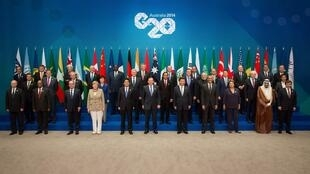 Foto de familia del G20 en Brisbane, Australia.