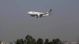 Um avião das linhas aéreas do Paquistão (PIA)