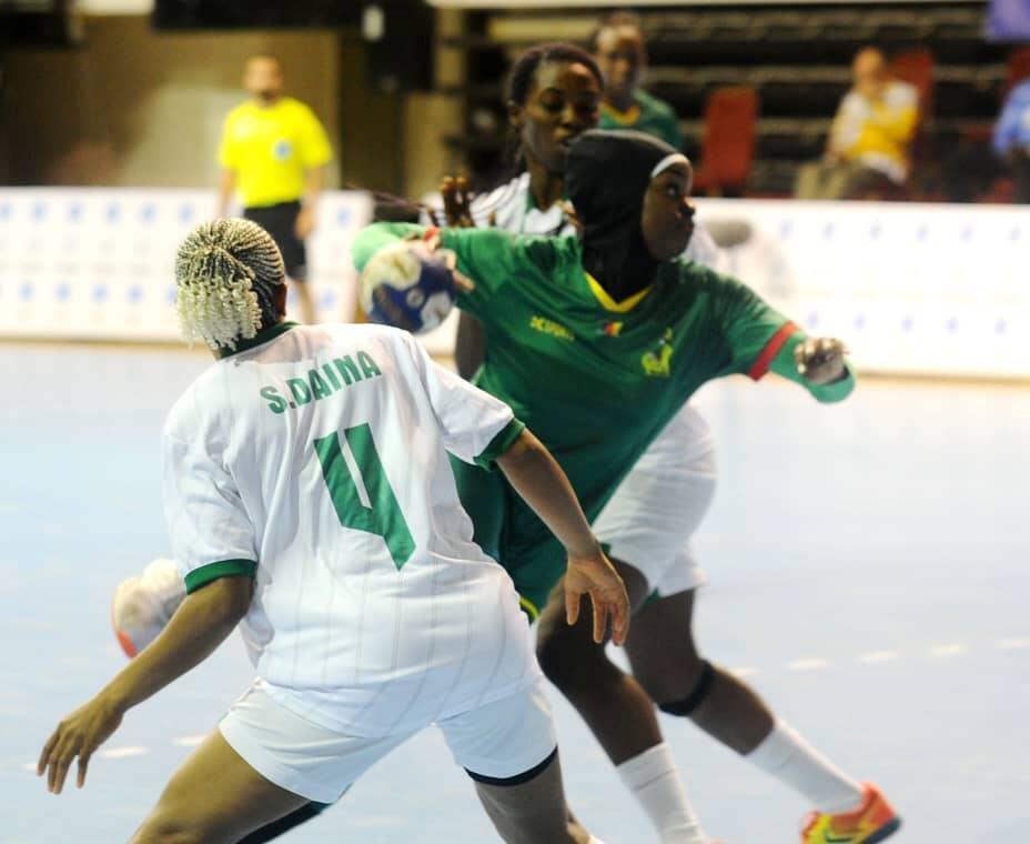 Lors de la CAN féminine 2021 de handball.