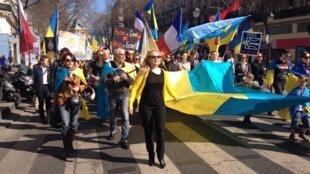 32-й парижский  «Евромайдан» против войны и аннекстии Крыма, 16.03.2014